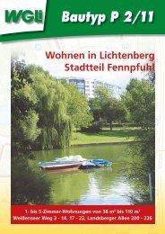 Flyer Bautyp P2 2011 - WGLi Wohnungsgenossenschaft ...