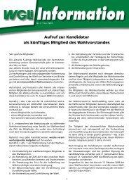 Info 2/2009 Aufruf zur Kandidatur für den Wahlvorstand - WGLi ...