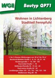 Bautyp QP71 - WGLi Wohnungsgenossenschaft Lichtenberg eG