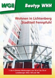 Bautyp WHH - WGLi Wohnungsgenossenschaft Lichtenberg eG