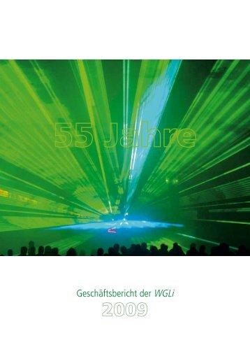 Geschäftsbericht 2009 - WGLi Wohnungsgenossenschaft ...