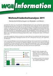 Info 1/2012 Wohnzufriedenheitsanalyse 2011 - WGLi ...