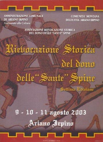 Libretto - Sante Spine
