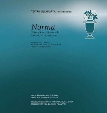 libreto: Norma - La Arcadia Jerez