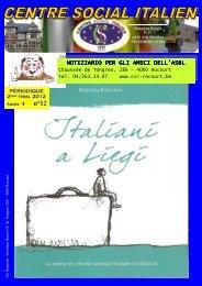 Dodicesimo Numero - Centro Sociale Italiano di Rocourt