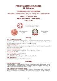FORUM ANTIRICICLAGGIO II Edizione - Fondazione Italiana del Notariato
