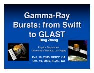 Gamma-Ray Bursts: from Swift to GLAST - SCIPP
