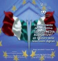 servizi media audiovisivi - Università degli Studi Roma Tre