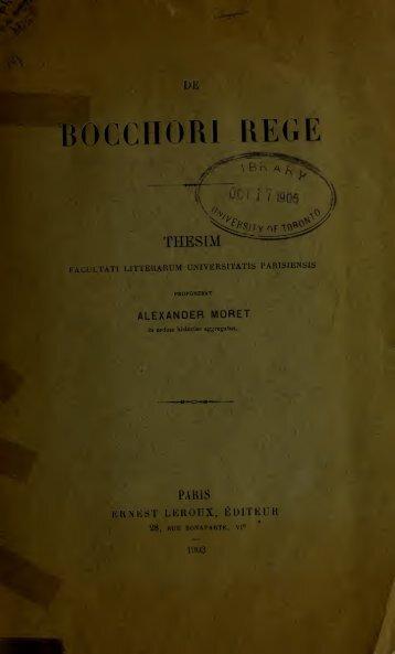 De Bocchori Rege