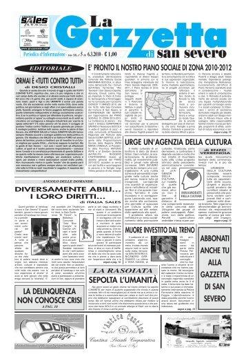 6 marzo 2010 - La Gazzetta di San Severo