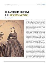 le famiglie lucane e il risorgimento - Consiglio Regionale della ...
