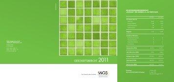 GESCHÄFTSBERICHT 2011 - bei der WGS Dresden