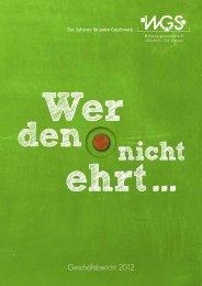 Geschäftsbericht 2012 - bei der WGS Dresden