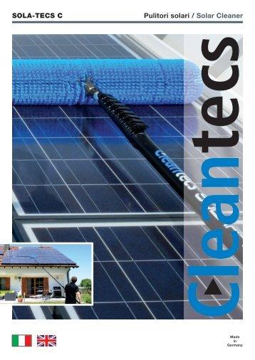 SOLA-TECS C Pulitori solari / Solar Cleaner - bei Cleantecs GmbH