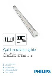 Quick installation guide -LDM 400, 410 - Philips Lighting
