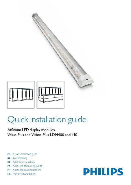 Quick Installation Guide Ldm 400 410 Philips Lighting