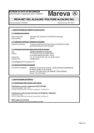 REVA-NET GEL ALCALINO / PULITORE ALCALINO GEL - Mareva
