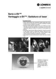Serie e-SV™ Vantaggio e-SV™: Saldatura al laser - Lowara