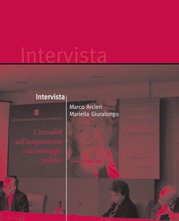 Intervista a Decio Scardaccione Marco Arcieri e Mariella Giuralongo