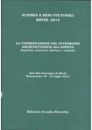 conservazione del patrimonio architettonico all'aperto - EDILIZIA ...