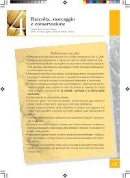 cap. 4 - Raccolta, stoccaggio e conservazione - Veneto Agricoltura