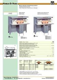 Banco aspirante industriale per pulitura Industrial polishing bench ...