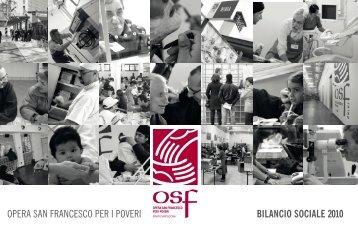 Bil. sociale 2010 - Opera San Francesco per i Poveri