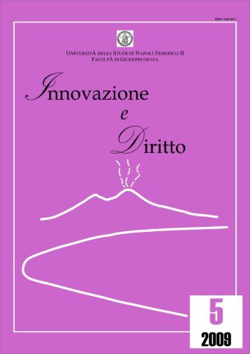 versione PDF - Innovazione e diritto - Università degli Studi di ...