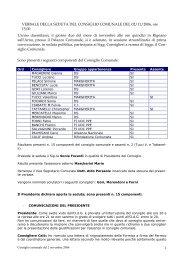 Consiglio comunale di Rignano del 2/11/2006 - Comune di Rignano ...