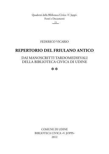 121228-vicario - Udine Cultura
