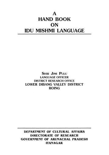 Idu Mishmi handbook Pulu 2002.pdf - Roger Blench