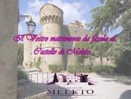 Il tuo matrimonio esclusivo in un vero castello - Castello di Meleto