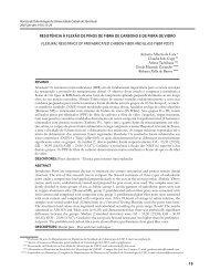 Resistência à flexão de pinos de fibra de carbono e de fibra de vidro