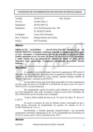 20392 - Secretaria de Estado de Fazenda de Minas Gerais
