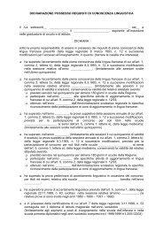 Dichiarazione possesso requisiti conoscenza lingua francese