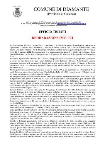 Dichiarazione I.M.U. - Comune di Diamante