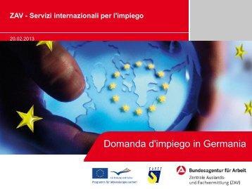 Job application in Germany - Extranet Regione Piemonte