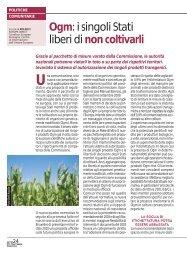 Ogm: i singoli Stati liberi di non coltivarli - Ermes Agricoltura
