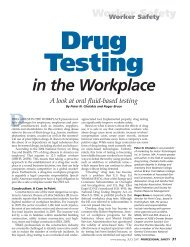 in the Workplace - American Society of Safety Engineers