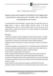 Rapporto di attività per l'anno 2012 - Regione Emilia Romagna