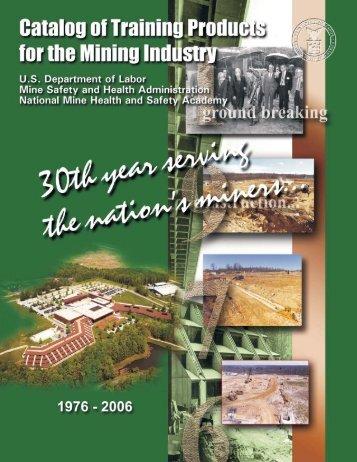 2006 Mine Academy Training Products Catalog - Usmra.com