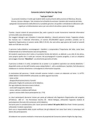 """Consorzio Latterie Virgilio Soc.Agr.Coop """"nati per il latte"""""""