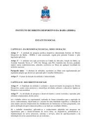instituto de direito desportivo da bahia (iddba) estatuto social