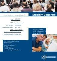 Studium Generale - Libera Università di Bolzano