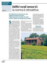Edifici rurali senza Ici: la norma è retroattiva - Ermes Agricoltura