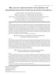 08 - Relação das variáveis idade e escolaridade.indd - PePSIC
