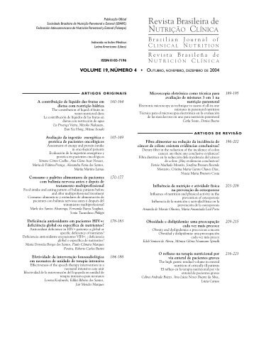 VOLUME 19, NÚMERO 4 • OUTUBRO, NOVEMBRO ... - SBNPE