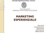 marketing esperienziale - Università di Urbino - Università degli ...