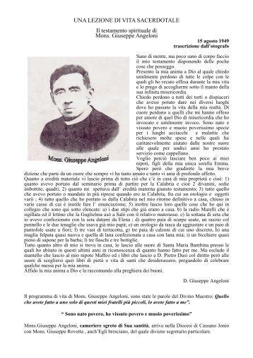 Mons. Giuseppe Angeloni - Sacricuoricdf.it