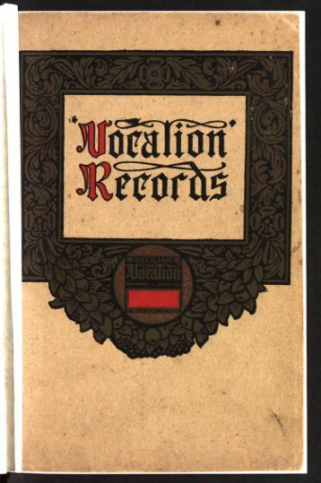 Aeolian-Vocalion Records 1924
